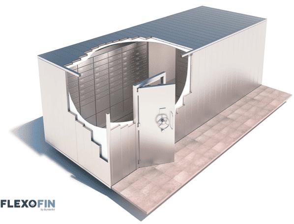 Een modulaire kluiskamer door ons vervaardigd